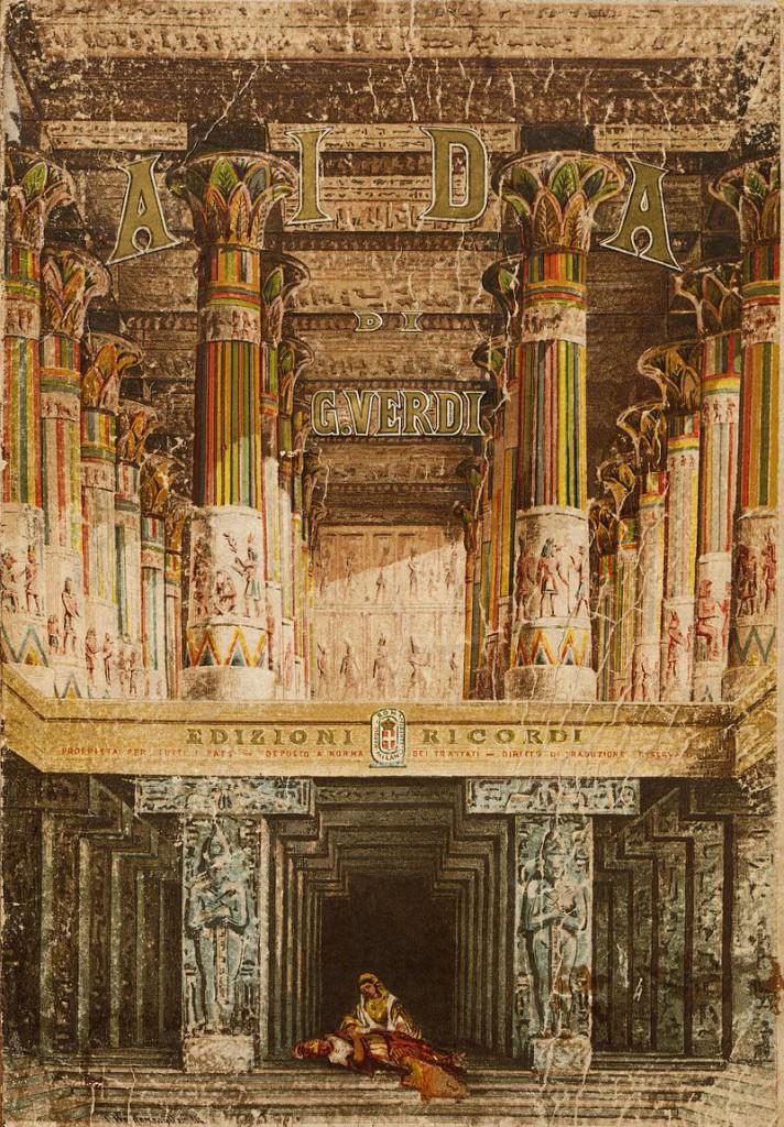 アイーダのヴォーカル譜の表紙(1872年)