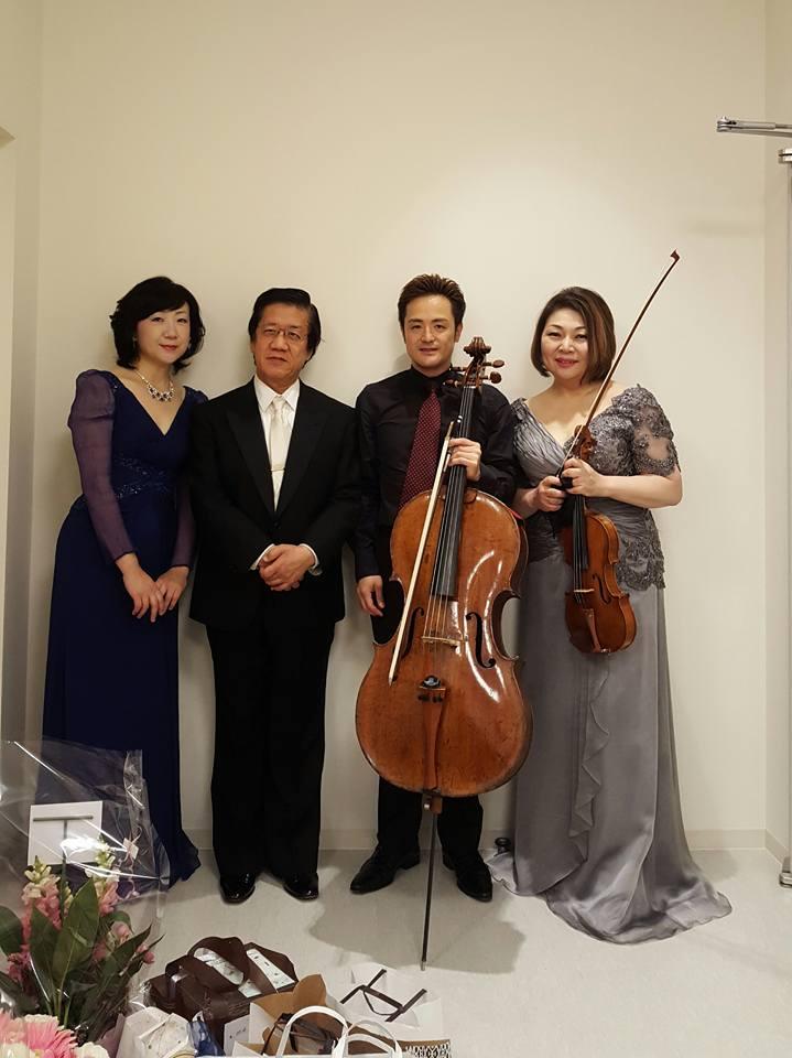 左から棚瀬先生、宮澤先生、石川先生、杉田先生